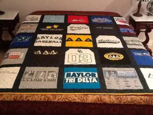Baylor T-Shirt Quilt