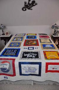 Lily's T-shirt Quilt 1