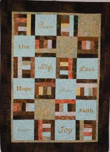 Live, Laugh, Love Quilt-quilted