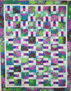 Purple-background-Flower-and-9-patch-quilt